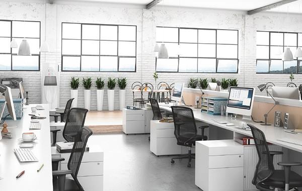 Desktop Management Support im Büro des Unternehmens